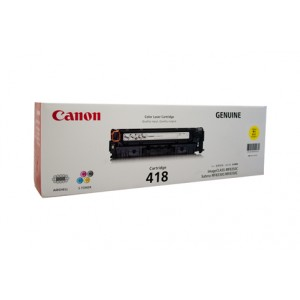 Canon Cart-418 Yellow Toner Cartridge - 2,900 pages