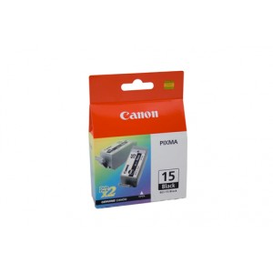 Canon BCI-15BK Black Ink Tank 2 per pack - 150 pages each