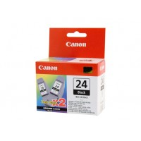 Canon BCI-24BK Black Ink Tank Twin Pack - 130 pages each