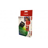 Canon CLI-526 Ink Value Pack - CLI525BK, C, M, Y & Photo Paper