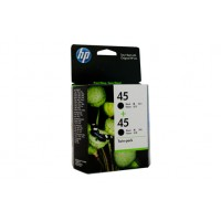 HP 45 Black Ink Cartridge Twin Pack CC625AA- 883 pages each
