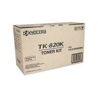 Kyocera TK820K Black Toner Cartridge - 15,000 pages