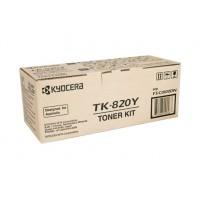 Kyocera TK820Y Yellow Toner Cartridge - 7,000 pages