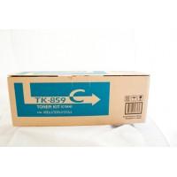 Kyocera TK859C Cyan Toner Cartridge - 18,000 pages