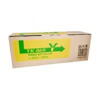 Kyocera TK869Y Yellow Toner Cartridge - 12,000 pages